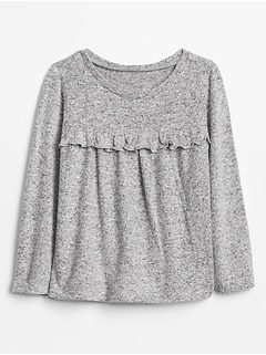 Toddler Softspun Sleeve Ruffle T-Shirt