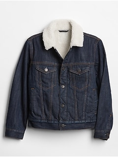 Kids Sherpa-Lined Denim Jacket