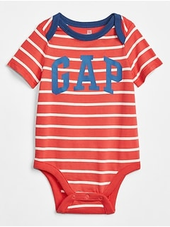 Baby Stripe Gap Logo Bodysuit