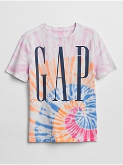 Kids Gap Logo Tie-Dye Pocket T-Shirt