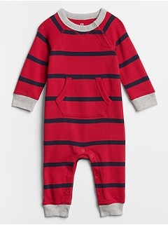 Baby Stripe Pocket One-Piece