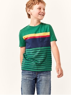 Kids Crewneck Pocket T-Shirt in Jersey