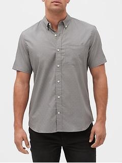 Print Short Sleeve Poplin Shirt