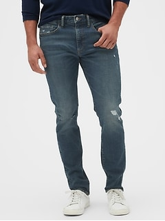 Distressed Slim Fit Jeans with GapFlex