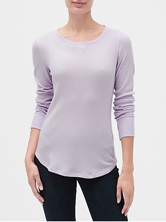 Long Sleeve Thermal Crewneck T-Shirt