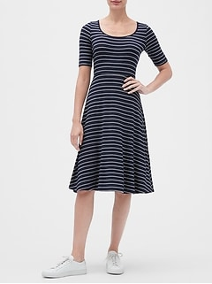 Scoopneck Swing Dress