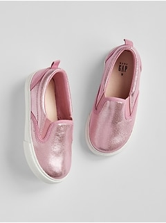 babyGap Metallic Slip-On Sneakers