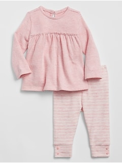 Baby Stripe Sweater Set