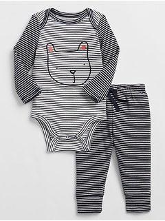 Baby Stripe Bodysuit Set