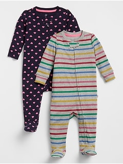 Baby Footed One-Piece (2-Pack)