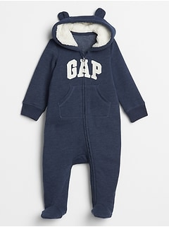 Baby Gap Logo Sherpa-Hood One-Piece