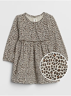 Baby Print Ruffle Dress