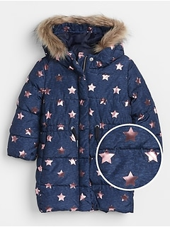 Toddler Longline Puffer Jacket
