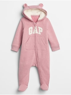 Baby Gap Logo Sherpa-Lined One-Piece