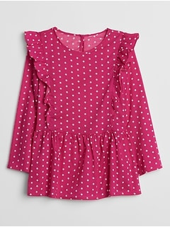 Kids Print Ruffle Top