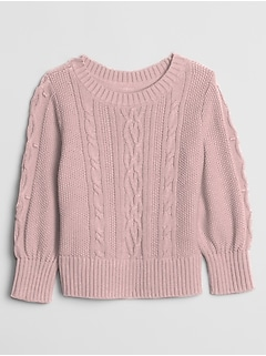 Toddler Cable-Knit Crewneck Sweater
