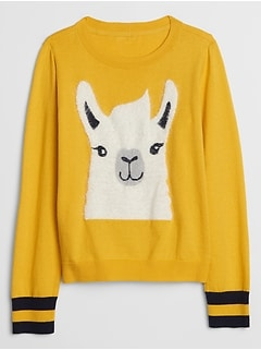 Kids Graphic Crewneck Sweater