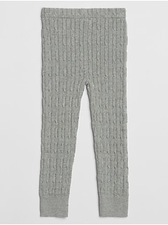 Toddler Cable-Knit Leggings