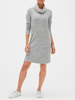 Softspun Cowl-Neck Sweater Dress
