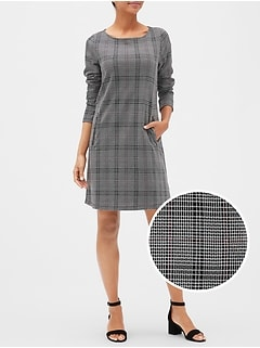 Plaid Zip-Pocket Dress