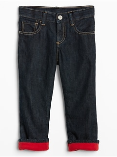 Toddler Fleece-Lined Straight Fit Jeans