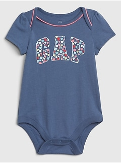 Baby Gap Logo Short Sleeve Bodysuit