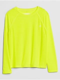 GapFit Kids Open-Back Long Sleeve T-Shirt