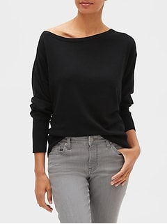 Off-Shoulder Pullover Sweater