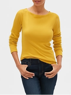 Long Sleeve Boatneck T-Shirt