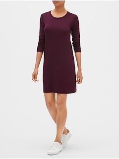 Long Sleeve Swing Dress in Rayon