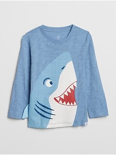 Toddler 3D Graphic Long Sleeve T-Shirt