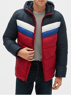 Heavyweight Colorblock Puffer Jacket