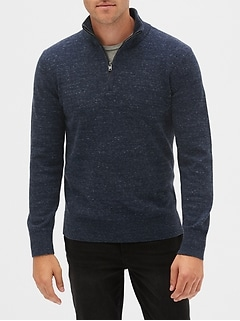 Quarter-Zip Mockneck Sweater