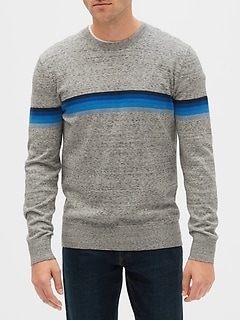 Crazy Stripe Crewneck Sweater