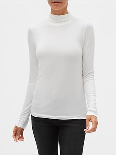 Ribbed Turtleneck T-Shirt