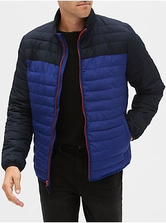 Lightweight Colorblock Puffer Jacket