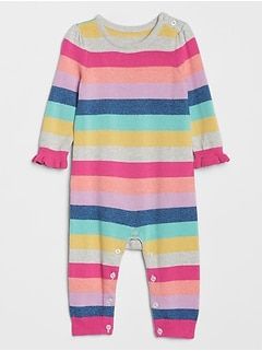 Baby Crazy Stripe Sweater One-Piece