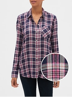 Plaid Shirt in Twill