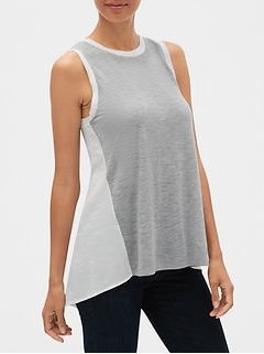 Mix-Fabric Tank Top
