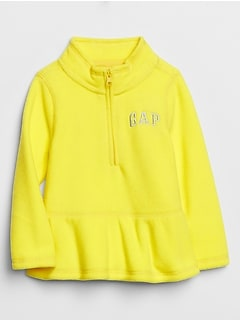Toddler Gap Logo Peplum Fleece Pullover