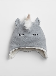 Kids Unicorn Trapper Hat