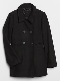 Kids Wool-Blend Peacoat