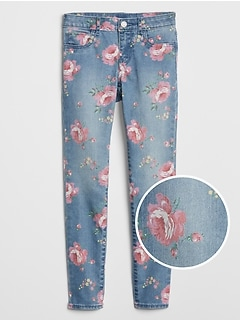 Kids High-Stretch Floral Print Jeggings