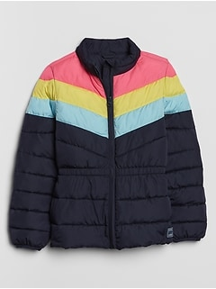Kids Colorblock Puffer Jacket