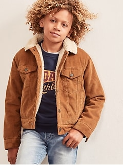 Kids Sherpa-Lined Cord Jacket
