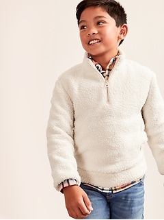 Kids Sherpa Half-Zip Sweater