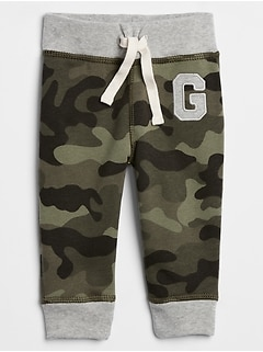 Baby Gap Logo Print Pull-On Pants