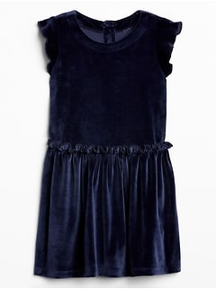 Toddler Velvet Ruffle Dress