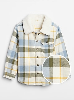 Toddler Flannel Shirt Jacket