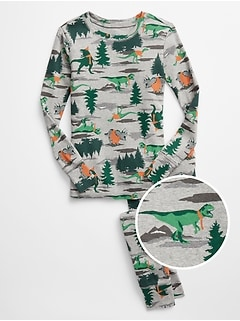 Kids Dino Print PJ Set